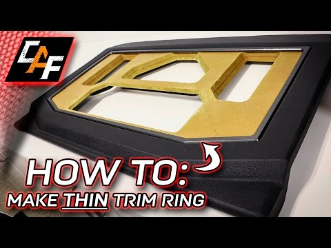 HOW SO THIN!? - Amp Rack Trim Ring - CarAudioFabrication
