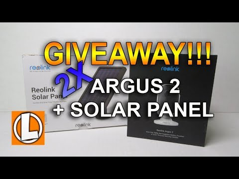 Giveaway!!! - Reolink Argus 2 + Solar Panel + Amazon e-Gift Cards + $30 off Coupon Code