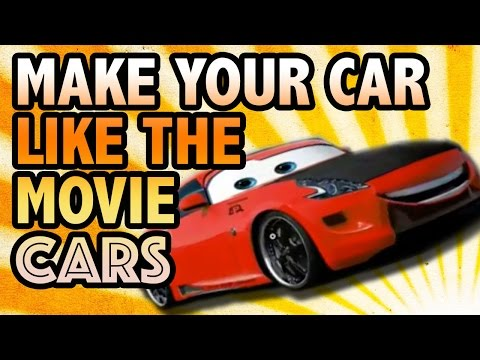 Make your car look like Disney's cars Photoshop tutorial