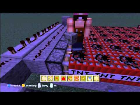 Minecraft Xbox 360-How To Make A Big TNT Cannon