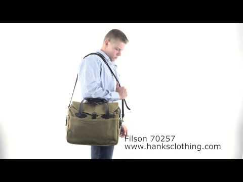 Filson 70257 Large Computer Bag Briefcase Walk On Video