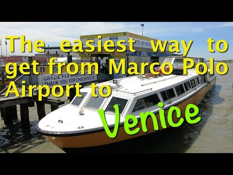 The easiest way to get from Marco Polo Airport to Venice via Vaporetto