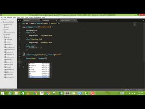 AngularJS Tutorial 19 : Login App - Part One