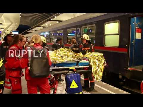Austria: Up to 50 injured after trains collide in Salzburg central