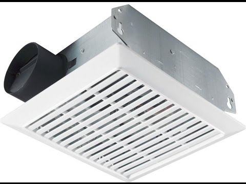 How To Install A Nutone Basic Residential Bathroom Exhaust Fan.