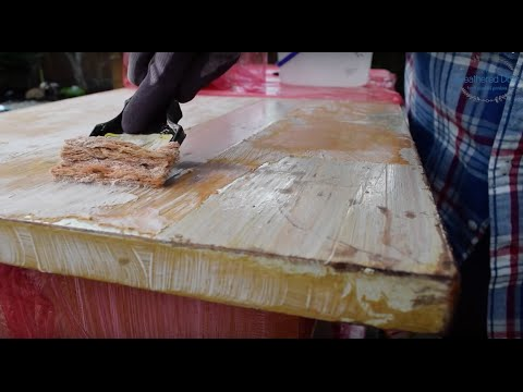 How to Strip Wood Furniture | AOM Dresser Makeover