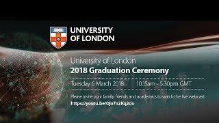 Download University of London 2018 Graduation Webcast Video