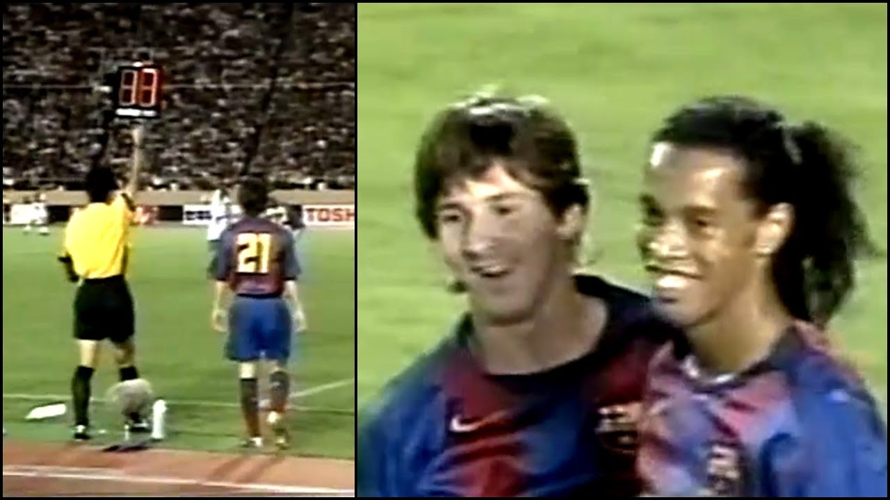 The Day Messi & Ronaldinho Played Together For The FIRST Time!! - Very Rare Footage