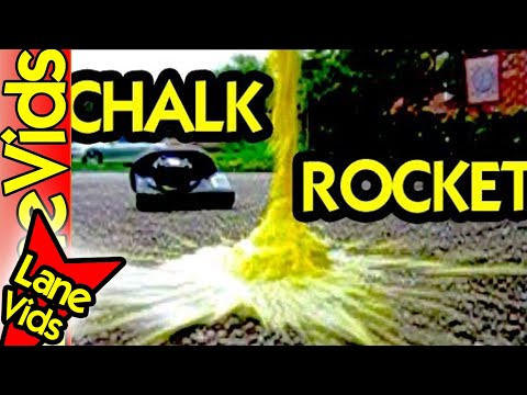 SCIENCE EXPERIMENTS FOR KIDS: HOW TO MAKE A HOMEMADE ROCKET | HOW TO MAKE ROCKET | CHALK ROCKETS