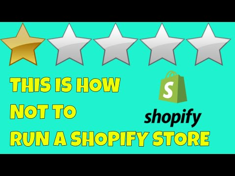 It's No Wonder So Many Shopify Stores Fail | This is How NOT TO Run Your Shopify Store