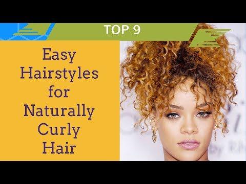 9 Easy Curly Hair Hairstyles