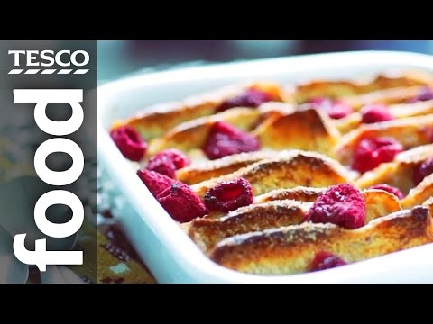 How to Make Almond Brioche Bread and Butter Pudding | Tesco Food