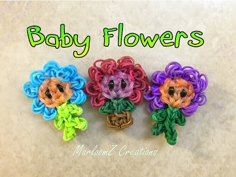 Rainbow Loom Baby Flower Pot ( loom bands )