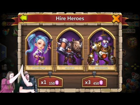 Ashley & JT Rolling 70,000 Gems For Heros LUCKY Session Castle Clash