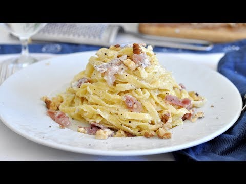 How to Make Taglatelle Pasta with Prosciutto and Mascarpone by Cooking with Manuela
