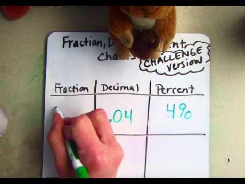 Fraction, Decimal, Percent Charts - Challenge Version