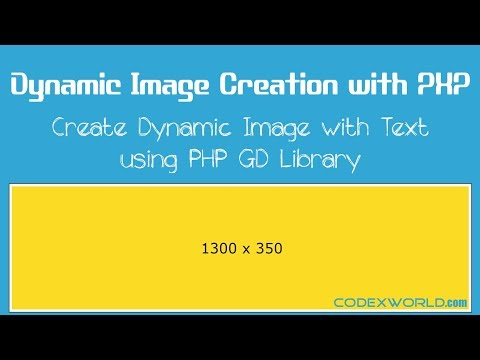 Dynamic Image Creation with PHP