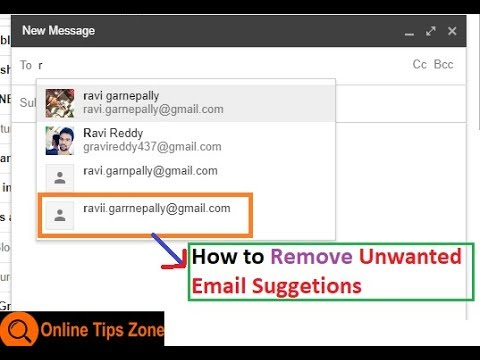 How to remove Email from Suggested List in Gmail