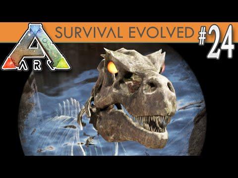 ARK: Survival Evolved - Skeletal Alpha Rex & 120 Spino (almost)! E24