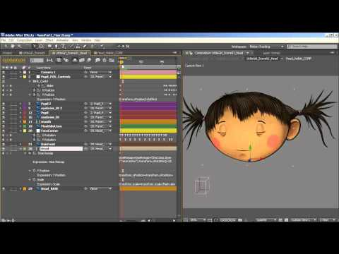 How To Animate a Simple 2D Character Head Rotation in Adobe After Effects | Animation Tutorial