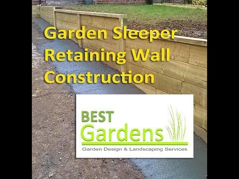 Garden Sleeper Retaining Wall (Photo Montage)
