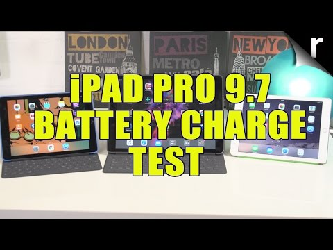 iPad Pro 9.7 battery charge and discharge Vs other iPads