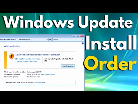 Windows Update Troubleshooting - Order for Installing Windows Updates
