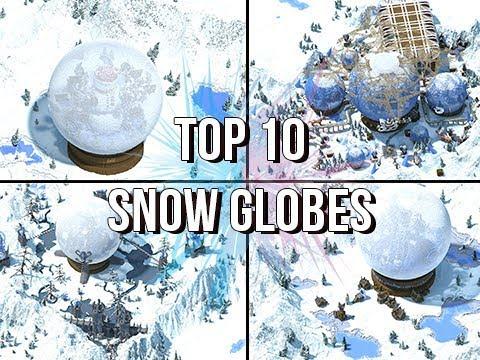 TOP 10 Minecraft Snow Globe Build Contest FINALISTS!