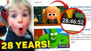 TOP 10 LONGEST YOUTUBE VIDEO on YouTube! (I Bet You Can