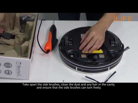 How to clean the side brush | ILIFE V1 Robot Vacuum