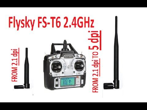 Flysky FS T6 Transmitter - Antenna Mod ( Increase your range & Signal Strength)