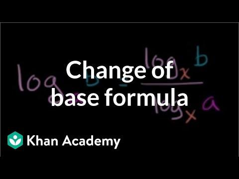 Change of base formula | Logarithms | Algebra II | Khan Academy