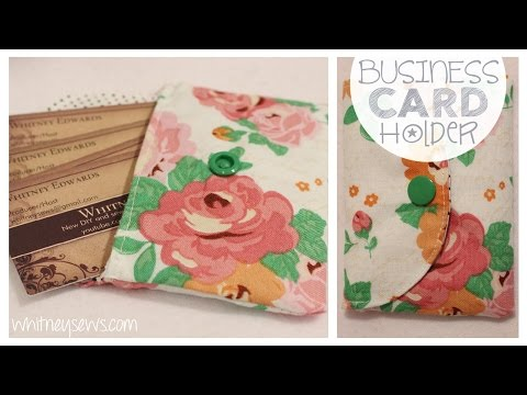 Fabric Business Card Holder | EASY How to | Whitney Sews