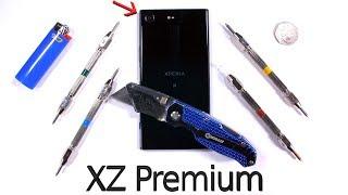 Xperia XZ PREMIUM Durability Test - Scratch Burn Bend Tested!