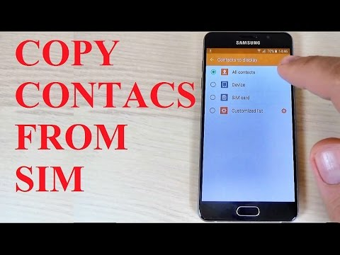 Samsung Galaxy A3, A5, A7 (2016) - How to Copy Contacts from SIM to Phone Memory