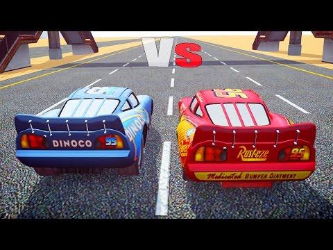 LIGHTNING MCQUEEN Vs DINOCO MCQUEEN (GTA IV Disney Cars Mods)