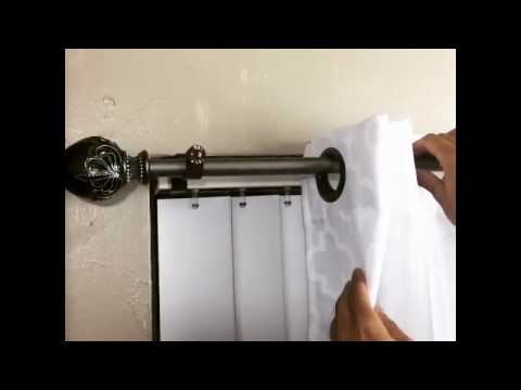 Inside Mounted Blinds Curtain Rod Bracket Attachment