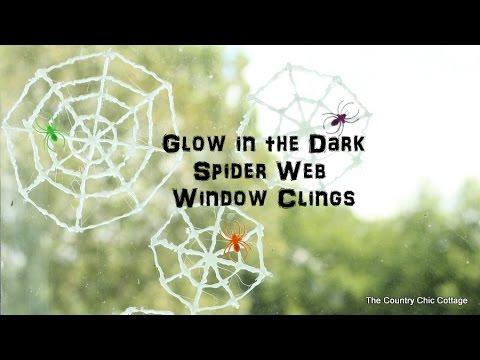 Glow in the Dark Spiderwebs (Window Clings)