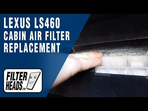 How to Replace Cabin Air Filter 2012 Lexus LS460