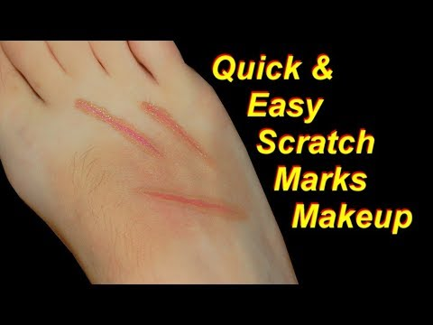 Quick and Easy Scratch Marks Halloween Makeup