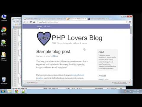 Learn how to create a PHP Lovers Blog using PHP and MySQL - Part 2