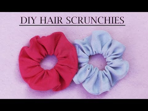 DIY: How To Make NO SEW Hair Scrunchies I DIY DECEMBER EP. 1 I Recycle old t-shirt