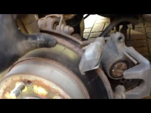 Rear brake pad replacement on a Honda Civic type r , how to change also accord frv Jazz hrv crv