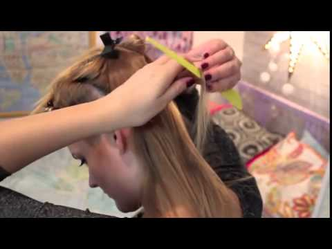 how to apply tape in hair extensions by yourself?