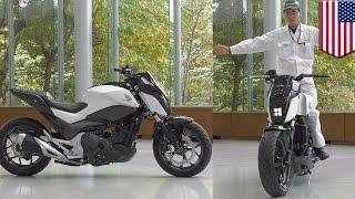 Future motorcycles: Honda self-balancing Riding Assist tech keeps bike balanced - TomoNews