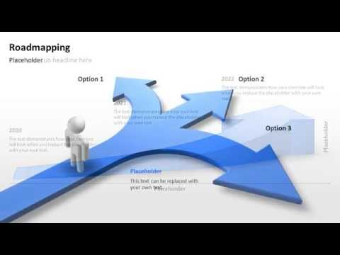 Roadmapping PowerPoint Templates - Visualize project steps!