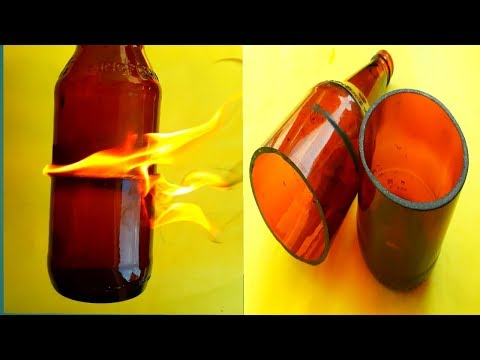 HOW TO CUT GLASS BOTTLE USING PETROL