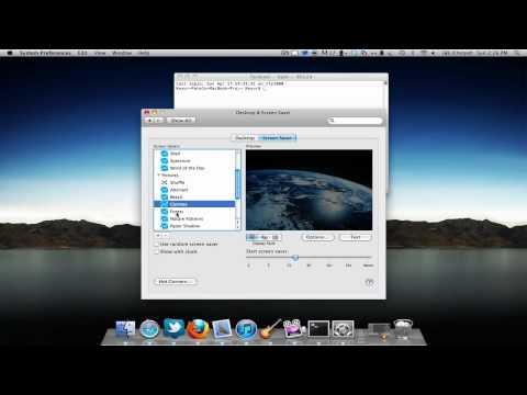 Mac Terminal Trick: Screensaver For Wallpaper