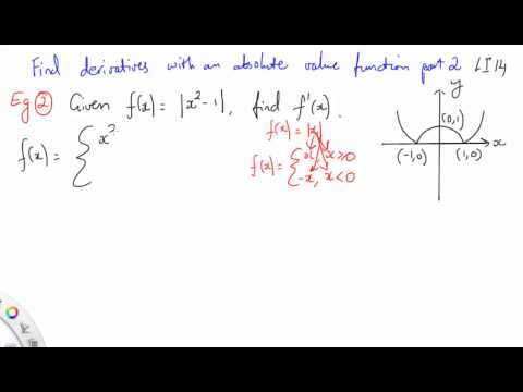 14 Find derivatives with an absolute value function part 2
