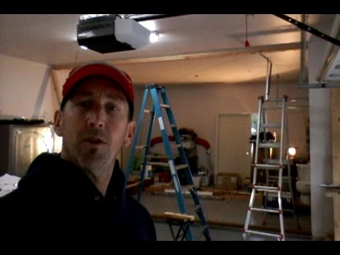 Garage Remodel: How to Build a Wall in 5 Minutes Timelapse Video